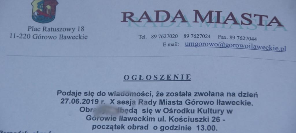 Burmistrz Górowa Iławeckiego ma absolutorium za 2018 rok – X sesja Rady Miasta